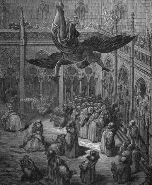 El Arcángel Miguel descendiendo al Claustro