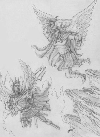 El Príncipe celestial en batalla contra el Príncipe de las tinieblas