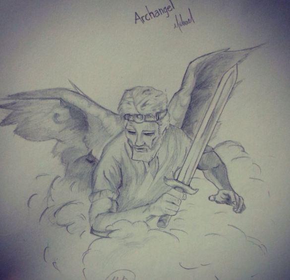 Miguel Arcángel con su espada