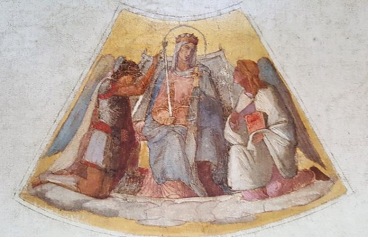 La virgen entre dos arcangeles